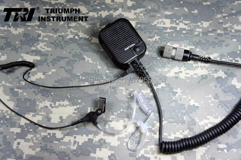Altavoz de comunicaciones original modificado con TRI con auricular para TRI PRC-152 TRI PRC-148