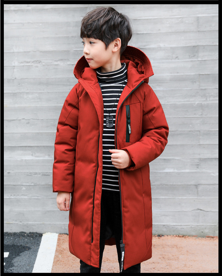 -30 degree children clothing 19 boy clothes warm winter down cotton jacket Hooded coat waterproof thicken outerwear kids parka 2