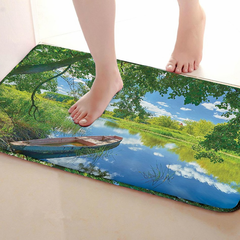 Ship Style Bathroom Mat,Funny Anti Skid Bath Mat,Shower Curtains Accessories,Matching Your Shower Curtain