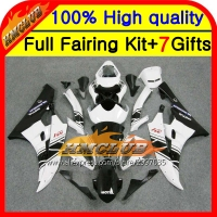 Body Black White Body For YAMAHA YZFR6 YZF 600 06 07 YZF R 6 06 07