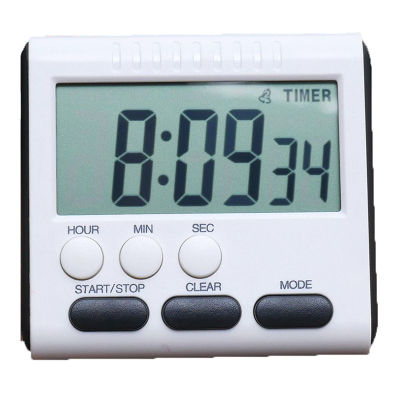 LINSBAYWU Kitchen Digital Timer Count-Down Up Clock Loud Electronic Large LCD Alarm Clock 24 Hours for Kitchen Cooking Matches