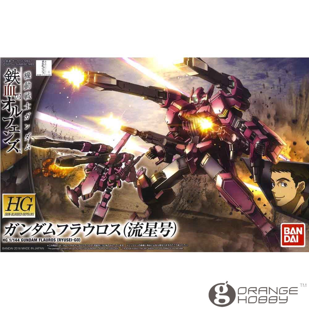 OHS Bandai HG Iron Blooded Orphans 028 1 144 Flauros Ryusei Go Mobile Suit Assembly Model