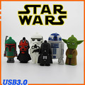 Cartoon star wars Darth Vader Yoda R2-D2 robot Maul Boba Fett Stormtrooper USB 3.0 Flash Drive pendrive U Disk stick pen drive