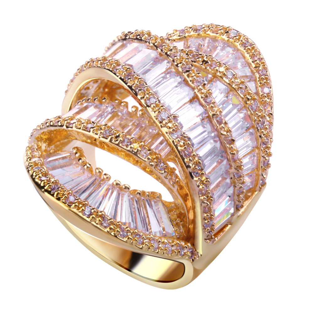 Wedding Rings cubic zircon stone Lover ring new style designer ...