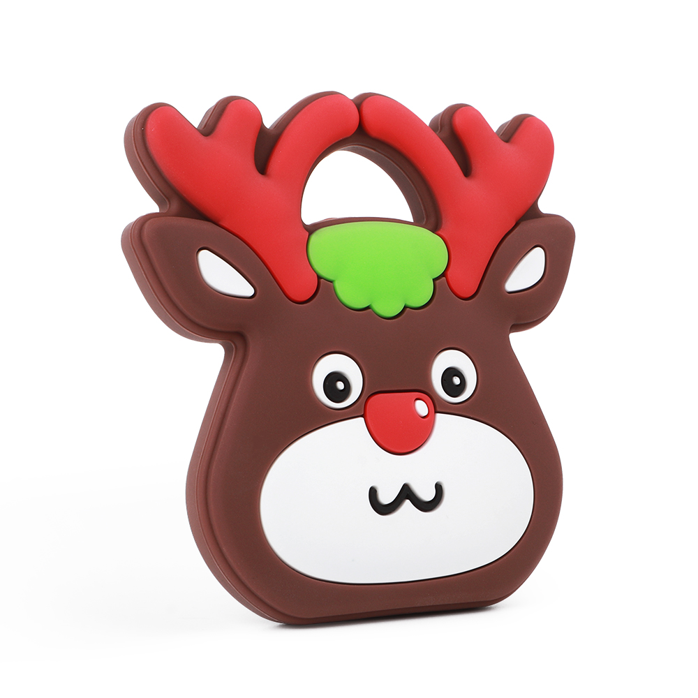TYRY.HU Christmas Gift Silicone Deer Teether Food Grade Silicone Teething Accessories For Teething Baby