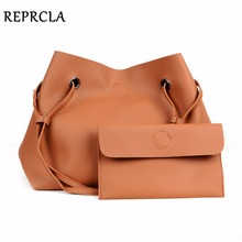 цена на REPRCLA Brand Designer Handbags Women Composite Bag Large Capacity Shoulder Bags Casual Ladies Tote High Quality PU Leather