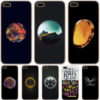 H406 Circular Fashion Design Transparent Hard Thin Case Cover For Apple iPhone 4 4S 5 5S SE 5C 6 6S 7 8 X Plus
