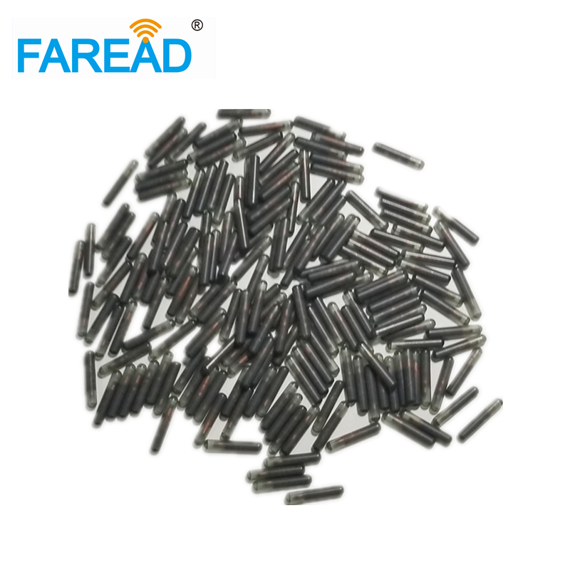 X30pcs 1.4*10mm EM4305 LF Glass Tag Microchip 134.2Khz FDX-B, Microtransponder For Livestock Identification