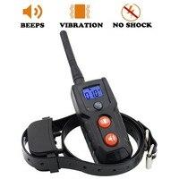 Petrainer No Shock Pet Dog Training Collar Sound Vibration LCD Collars No Harm Display Remote Control Training For 1 Dog