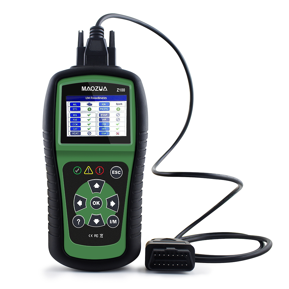 MAOZUA Z100 Code Reader OBD-II Scanner Tool  Works on ALL 1996 and newer vehicles (OBDII & CAN) Better than AL519 ELM327 AD310 ps100 can obdii eobdii scanner for multiple brand vehicles