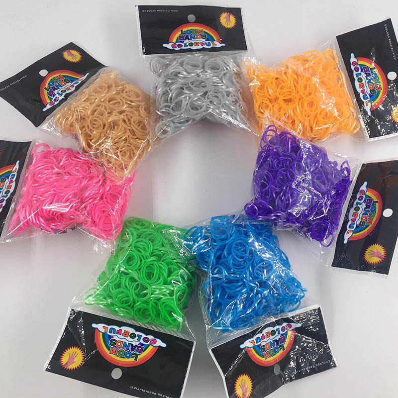 600PCS New Pearl effect Rubber Bands Refill DIY Bracelet Rubber Colorful Elastic Rubber Brightest and strongest bands available