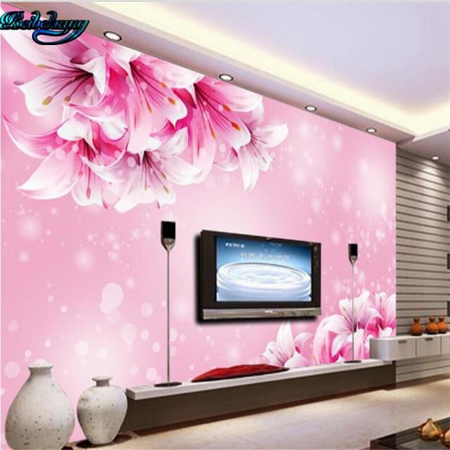 Aliexpress.com : Buy Beibehang Dream pink lily living room TV ...