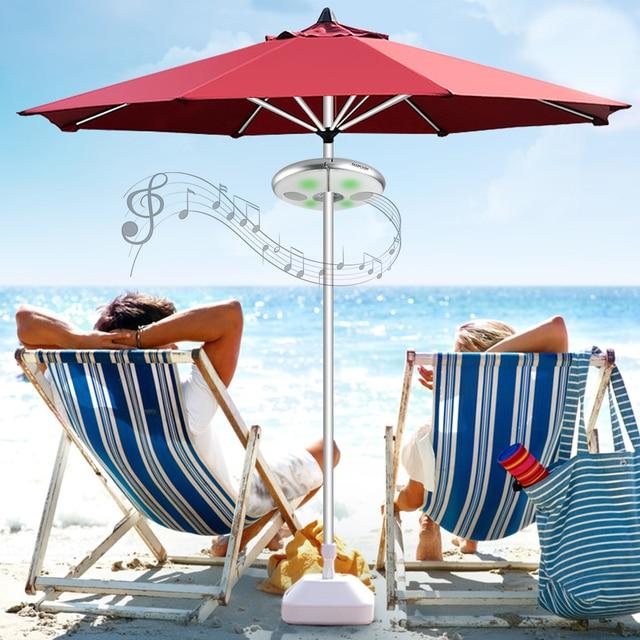 Texsens Led Beach Music Umbrella Light Bluetooth Wireless Speaker