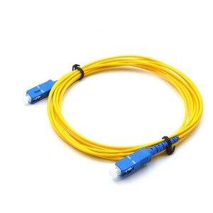 Image 2 - 10 chiếc SC UPC Patchcord Simplex 2.0mm PVC SM Sợi Miếng Dán Cáp dây Quang có Dây Nhảy SM SX SC Cáp 1 m đến 10 m