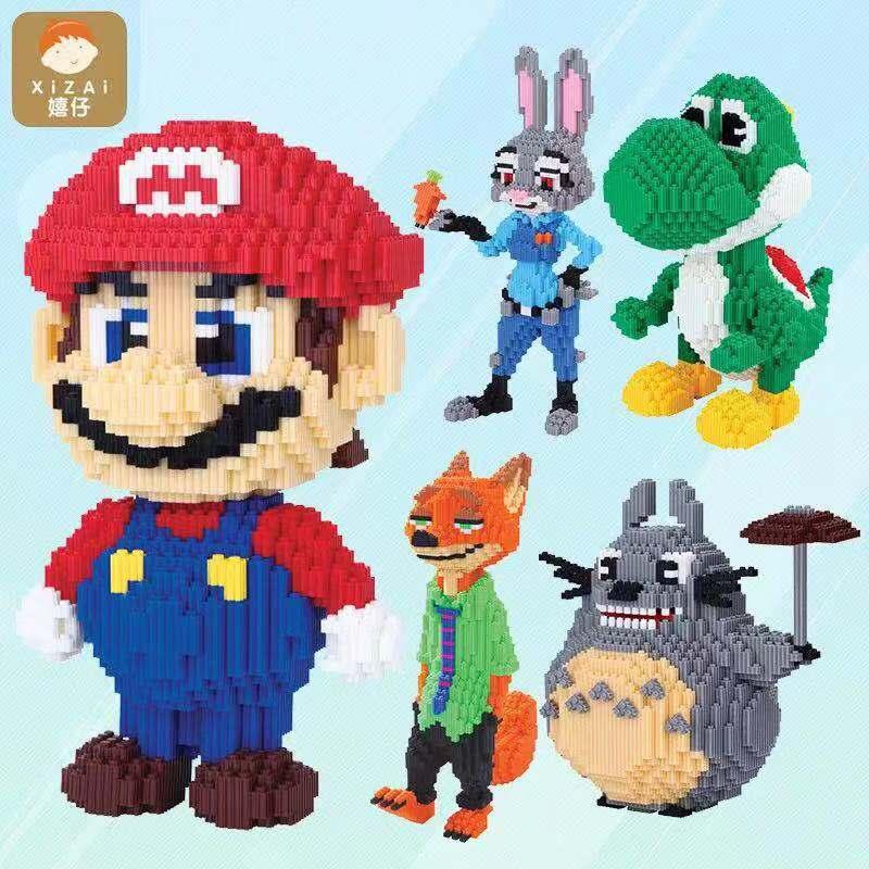 New Material Mini Block Toy Super Mario Design Cartoon Show Big Size 4700pcs Diamond Block Hot Sale Kids Toy