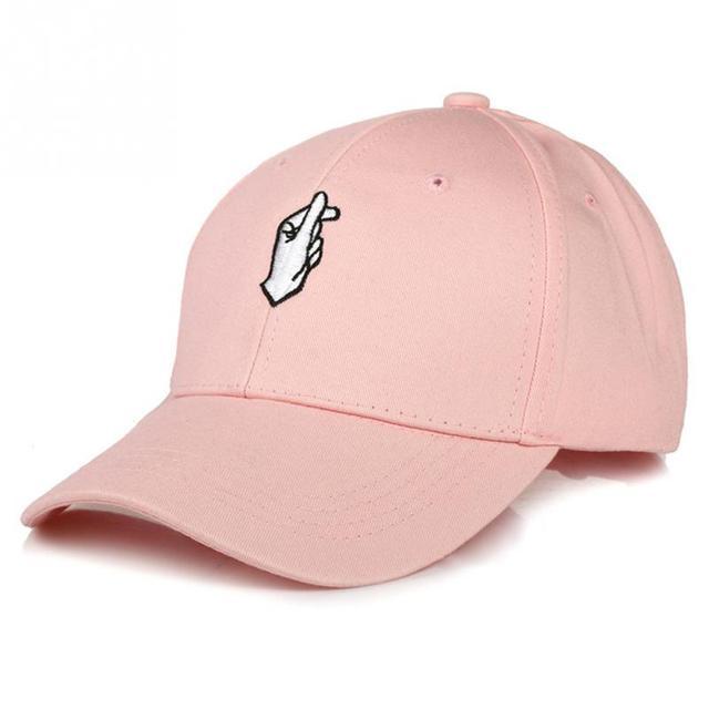 2018 moda para mujer para hombre niños amor a dedo gorra de béisbol  ajustable Strapback camionero 2bd3189743b