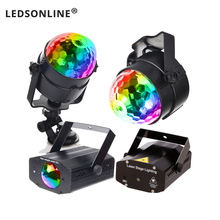 цена DJ Party Lights Projetor Disco Ball Lamp RGB 3W IR Remote EU US Plug stage light онлайн в 2017 году