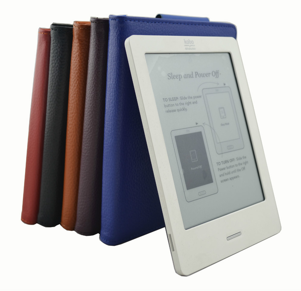 Top genuine real leather cover case kobo touch (N905 A B C