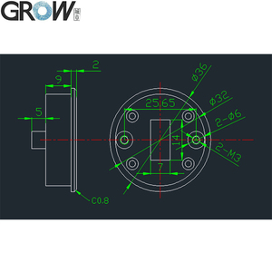 Image 5 - לגדול R501 חדש עיצוב עגול מעטפת קיבולי טביעות אצבע בקרת גישה מודול חיישן סורק עם 200 אצבע קיבולת