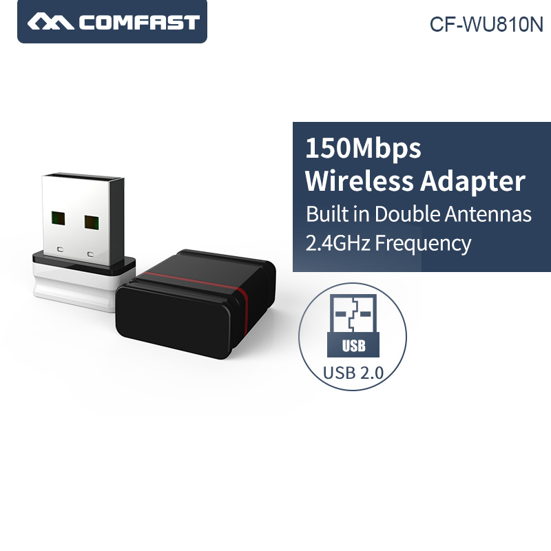 Wireless Mini USB Wifi Dongle 802.11b/g/n Mini PC USB Wi-fi Receiver 150Mbps Realtek 8188EU Network Card For Windows Mac Linux