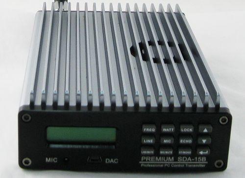 0W-15W PREMIUM CZE-15B SDA-15B PC-kontrol FM Transmitter Broadcast - Hjem lyd og video - Foto 1