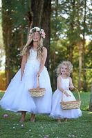 Hot Sale Lace Tulle Flower Girls Dresses For Party And Wedding Princess Kids Dress Top Fashion
