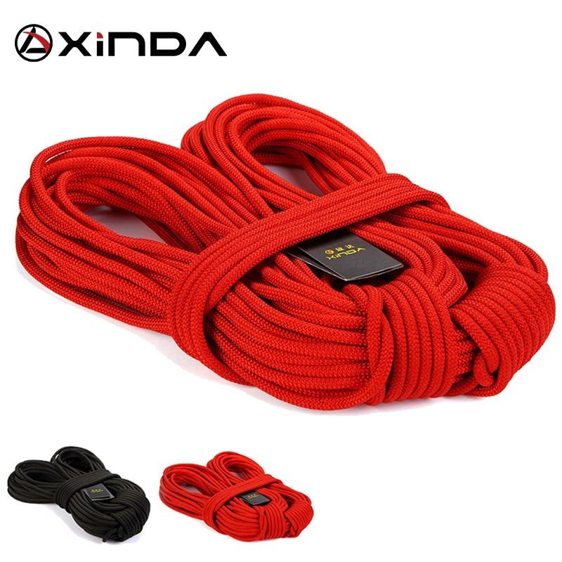 10M Lot Top Quality XINDA Professional Rock Climbing Downhill Rope 8mm Diameter High Strength Statics Rope