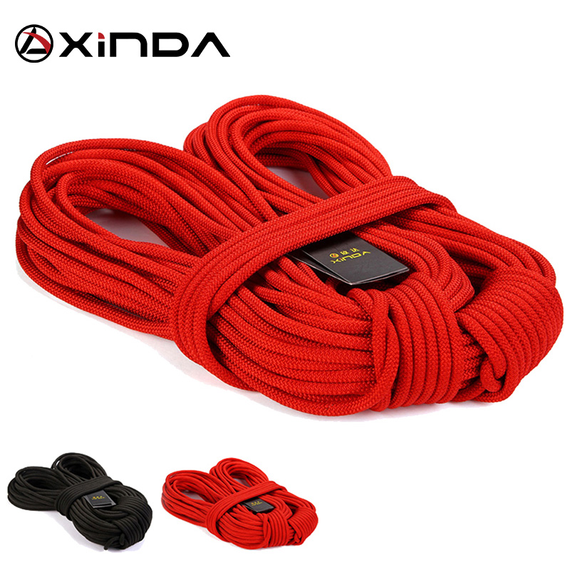 XIND Professional Rock Climbing Rope Udendørs Vandring Corda 8mm Diameter High Strength Statics Sikkerhed Rope Fire Redning Parachute