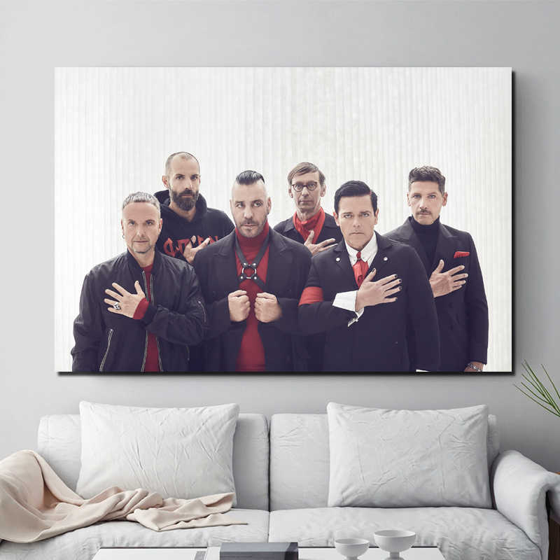 Rammstein Wallpaper Wall Art Canvas Posters And Prints Canvas Painting Decorative Picture For Office Living Room Home Decoration