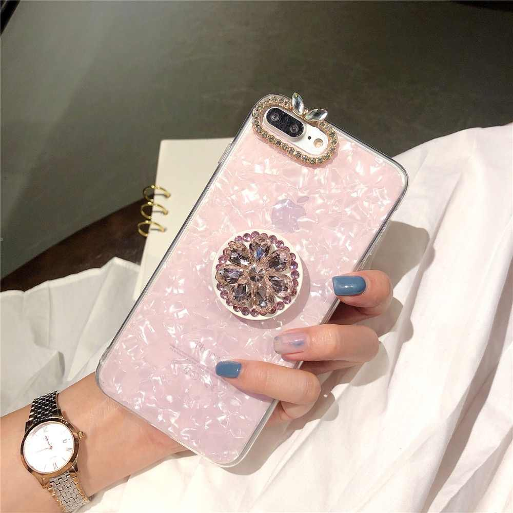 Rhinestone diament sztywny futerał na telefon dla iPhone 11 pro max 6 7 8 plus X XS max XR dla Samsung galaxy s7 s8 s9 s10 plus uwaga 9 10