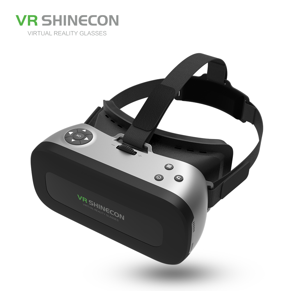 VR SHINECON SC-AIO1 ALL IN ONE 3D VR Glasses PRO Virtual Reality OTG Glasses 5.5 inch 1080P HD Screen For VR Games Videos Films royole x foldable all in one virtual reality glasses with hifi headphones 3d vr glasses for pc mobilephone games moives films