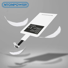 NTONPOWER QI Wireless Charger Receiver For iPhone 5 6 7 Micro USB Type C Universal Fast Wireless Charger Adapter Receiver module(China)