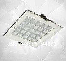 Оптовая продажа-Embedded 25 Вт СВЕТОДИОДНЫЕ Сетки гриль Решетки решетка Светильники используются для кухни утопленное вниз свет + led driver Free Ship