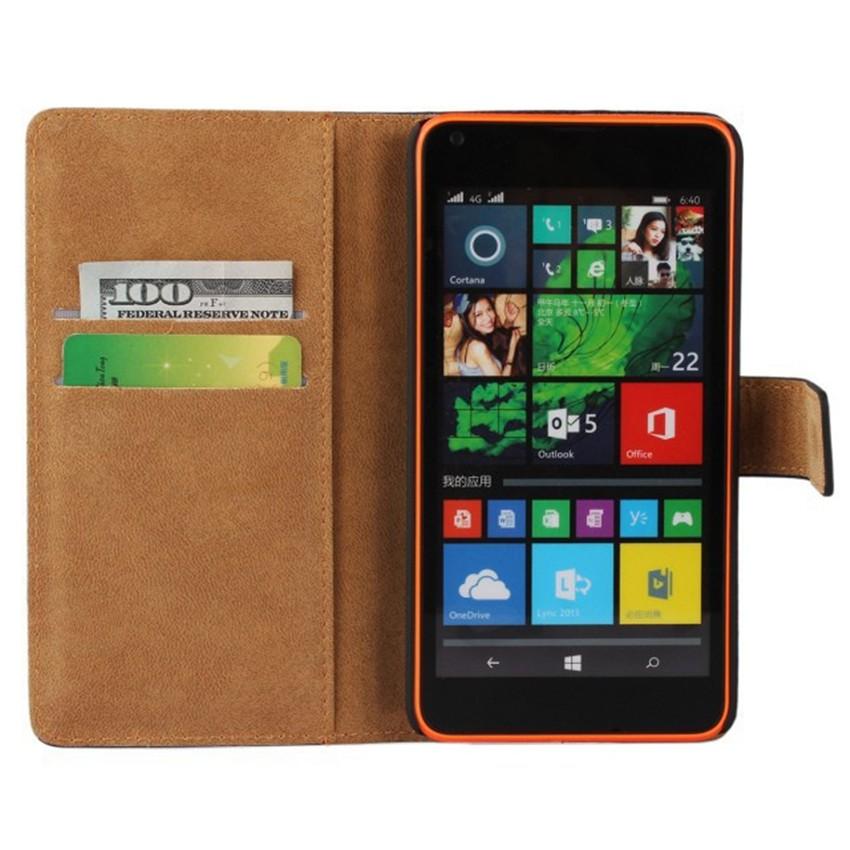 Luksusowe odwróć portfel genuine leather case pokrywa dla microsoft lumia 640 lte dual sim cell phone case do nokia 640 n640 powrót pokrywa 3