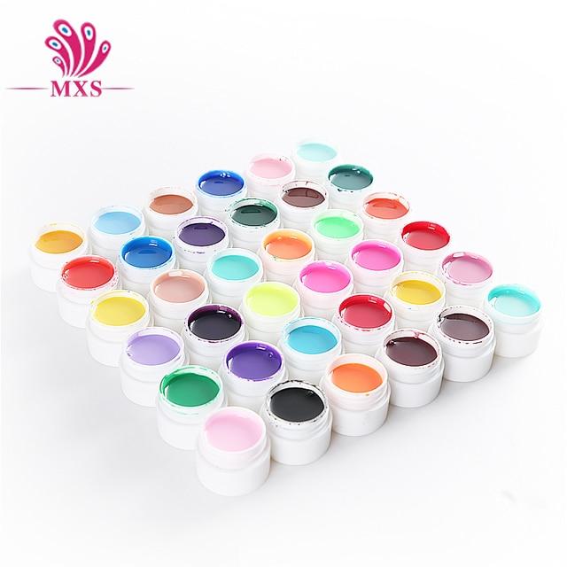 36 Solide Couleur 5 ml UV Gel DIY Décoration pour Nail Art Conseils UV Couleur Gel Manucure Gel Vernis À Ongles Extension