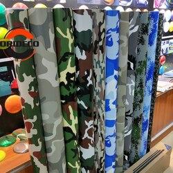 10 tipos de lámina de vinilo de camuflaje Digital Forest Desert para envoltura adhesiva de carrocería decorativa completa con burbujas gratis