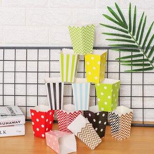 Image 2 - 12 Uds. De bolsas de palomitas de maíz de oro rosa para fiestas de niños, cajas de decoración para boda y cumpleaños, suministros para películas, bolsa de palomitas de maíz, suministros para fiestas