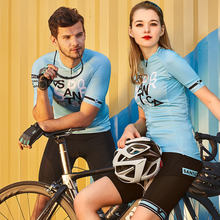 Santic Cycling Jersey Short Sleeve Unisex Mtb Breathable Couple Shirt Downhill Jerseys Team Maillot Ciclismo