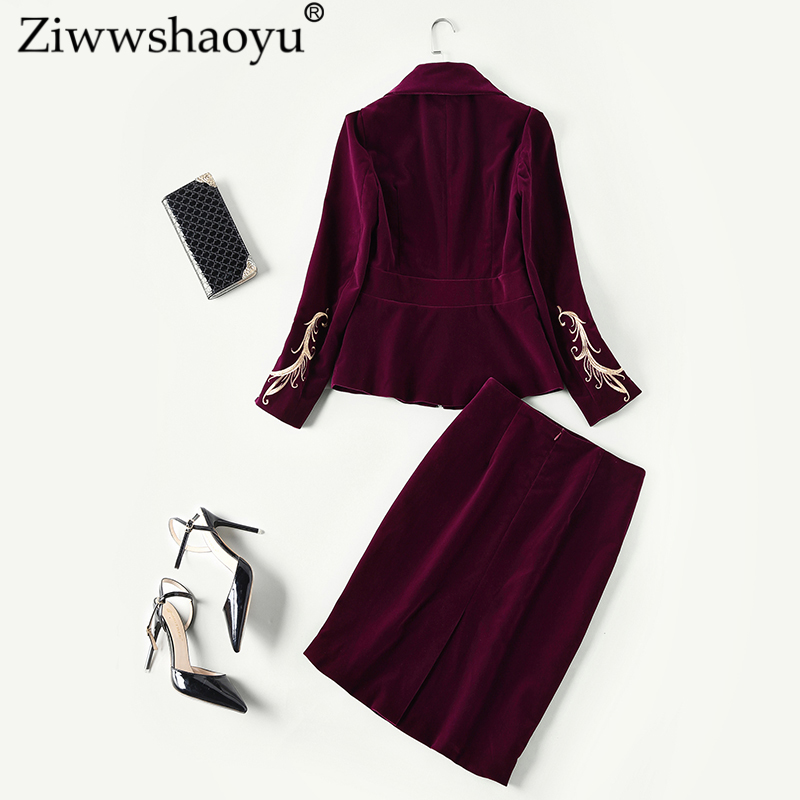 Ziwwshaoyu Moitié down Floral Automne Mode Manteau Col Turn Multi Jupe Broderie 2018 High Nouveau Street Costume rw4x0rfqOS