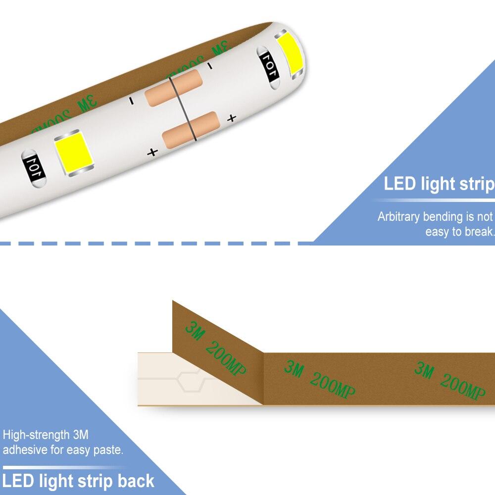 USB Led Strip Lamp SMD 2835 DC 5V Flexible Neon Led Strips Ribbon Tape Lamp Diode Outdoor Decoration TV Background Bias Lighting in LED Strips from Lights Lighting