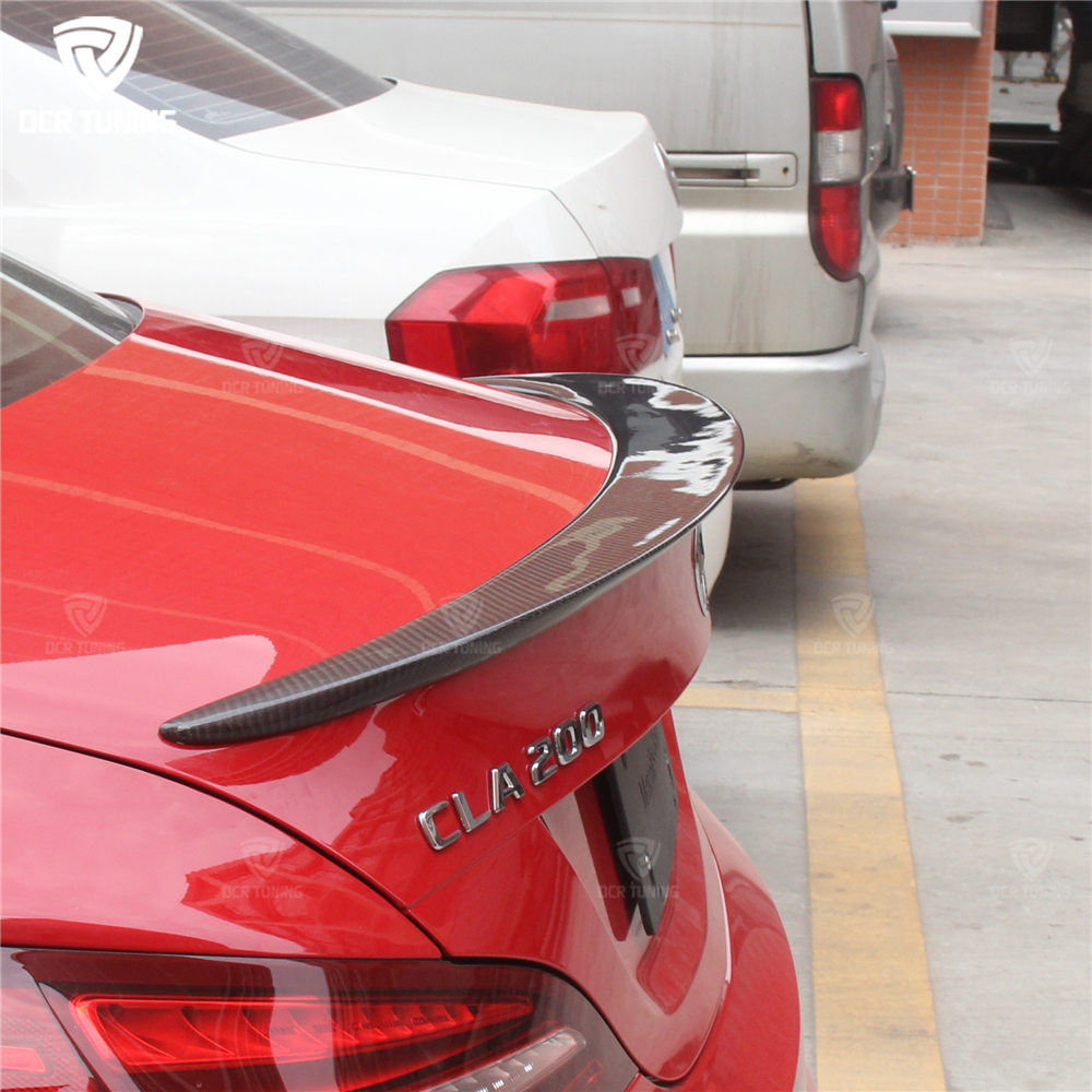 For Mercedes CLA Spoiler CLA45 W117 C117 Carbon Fiber Tagumised - Autode varuosad - Foto 2