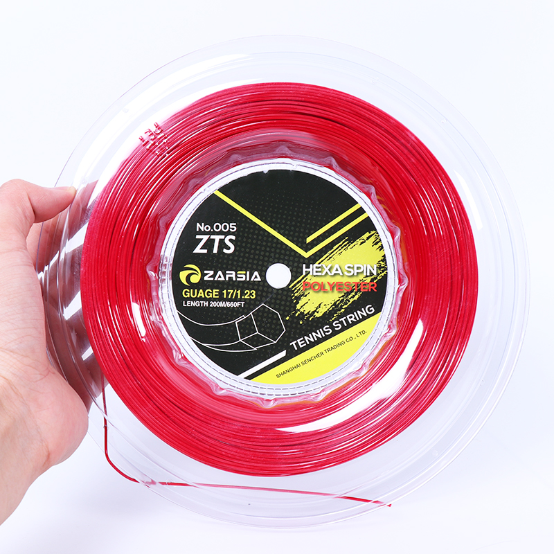 1 Reel 200M ZARSIA Durable Hex Tennis Racket String Six Edges Tennis Racquet Hexagon Strings 1.23MM