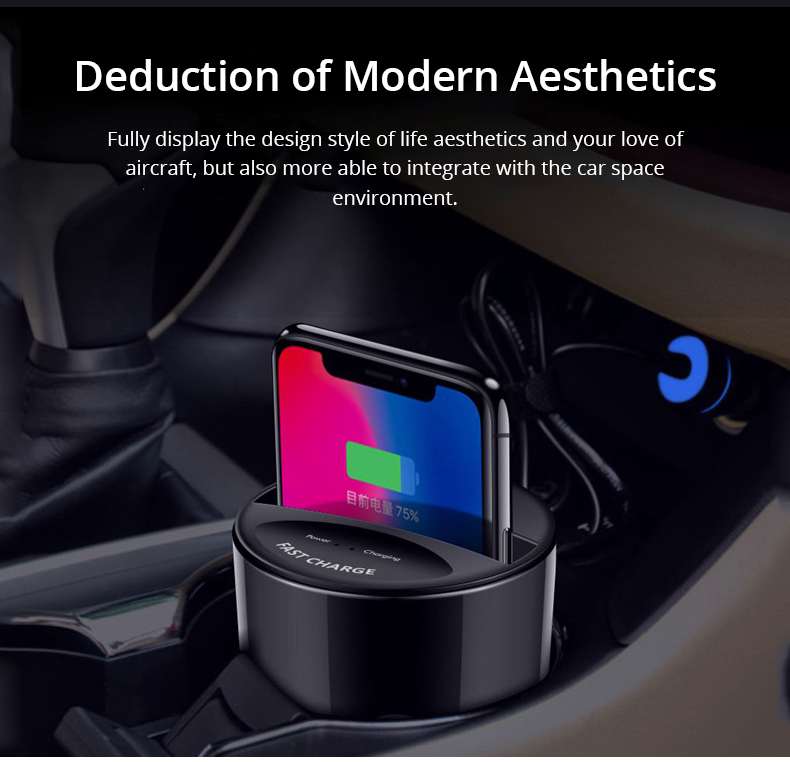 Qi Fast Wireless Car Charger Cup (4)