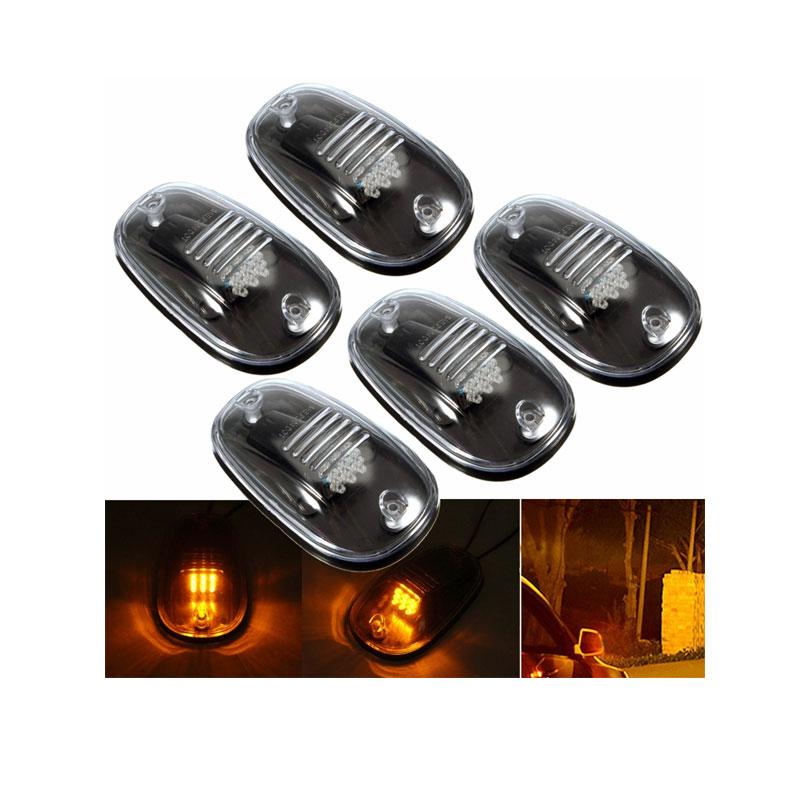 бесплатная доставка 5шт/комплект LED такси свет крыши маркер дым объектив для 4 x 4 offroad внедорожник пикап Шеви Колорадо предупреждение
