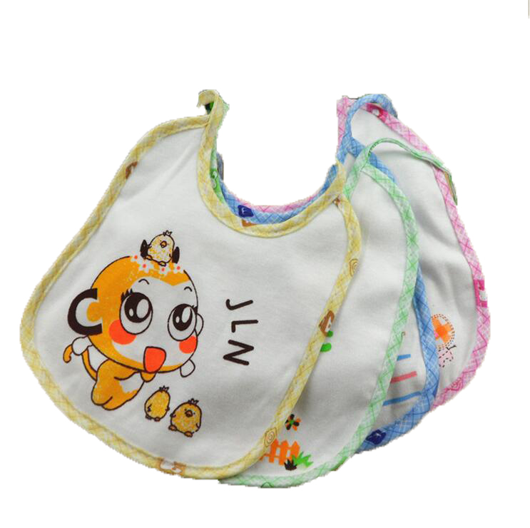 Baby Bibs Waterproof Lunch Bibs Boys Girls Infants Cartoon Pattern Bibs Burp Cloths For Children Self Feeding Care Free Shipping