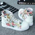 Mujeres CALIENTES de la lona zapatos remaches zip otoño botines mujer flores zapatos casuales zapatillas deportivas mujer mujer zapatos deportivos