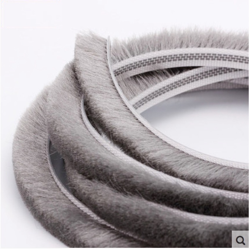 Felt Draught Excluder Wool Pile Weatherstrip Insert Gasket Sliding Sash Screen Window Door Brush Seal 6mm x 20mm 6x20mm 10m Gray