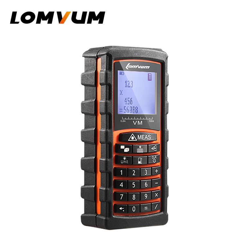 LOMVUM 40m/60m/80m/120m trena Laser Rangefinder Digital Distance Meter electronic sensor Keyboard calculation ferramentas m