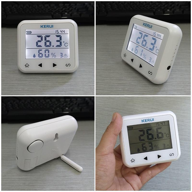KERUI TD32 LED-skjerm Justerbar temperatur og fuktighet Alarmsensor - Sikkerhet og beskyttelse - Bilde 6
