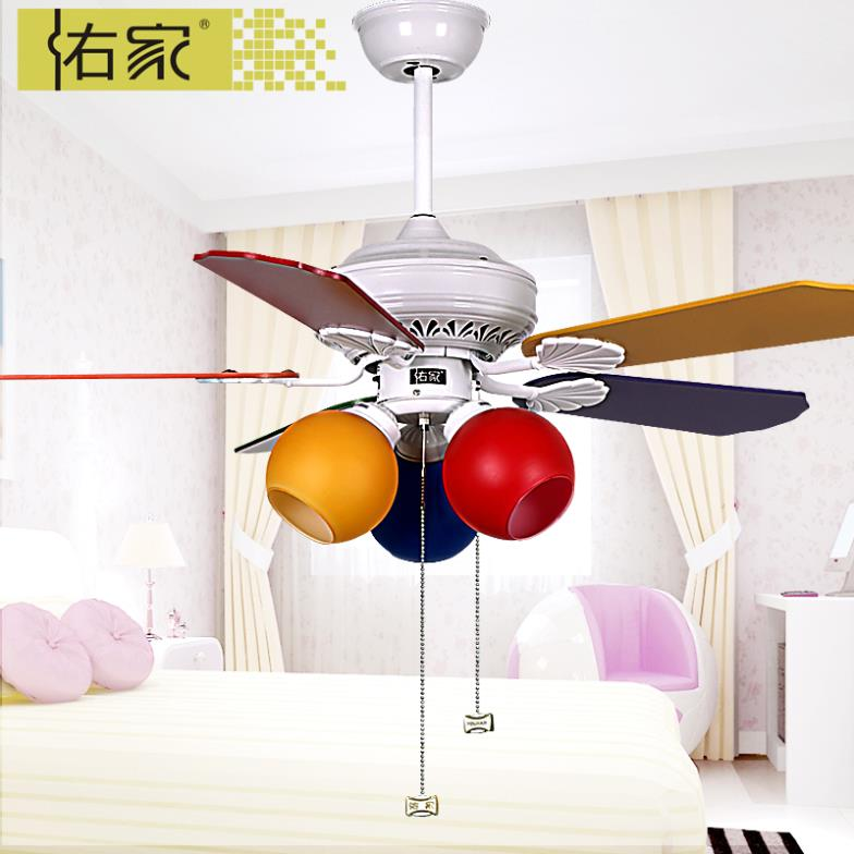 42 inch kids room color 810 fan ceiling fan light lamp for Kids room ceiling fan